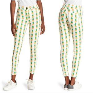NEW Pistola Pineapple Print Skinny Jeans